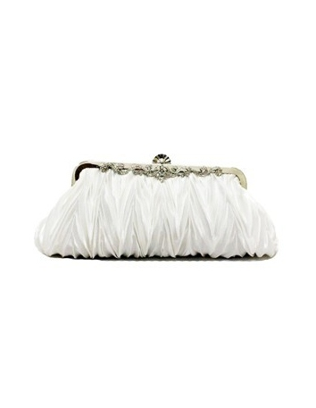 White Stain Rhinestone Special Occasion Handbags/Clutches