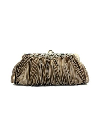 Brown Stain Rhinestone Special Occasion Handbags/Clutches