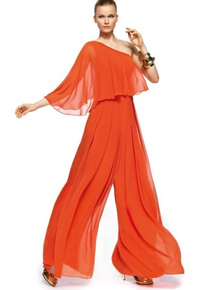 spesso Pant Suit Floor length Chiffon One shoulder Wedding Party Dress GJ26