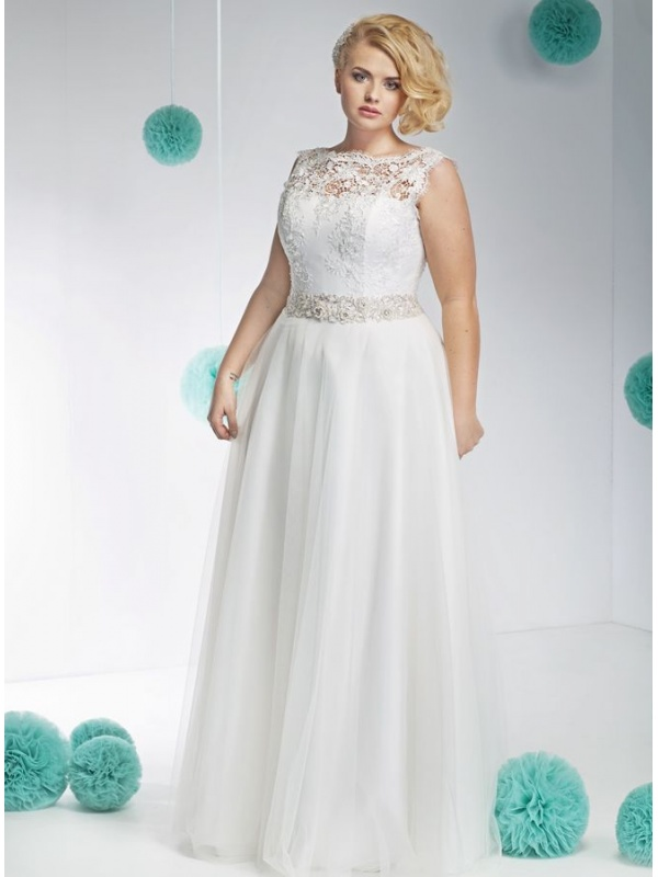 Preferenza da sposa Elegante online Accollato con corpetto in Pizzo e gonna  WJ98