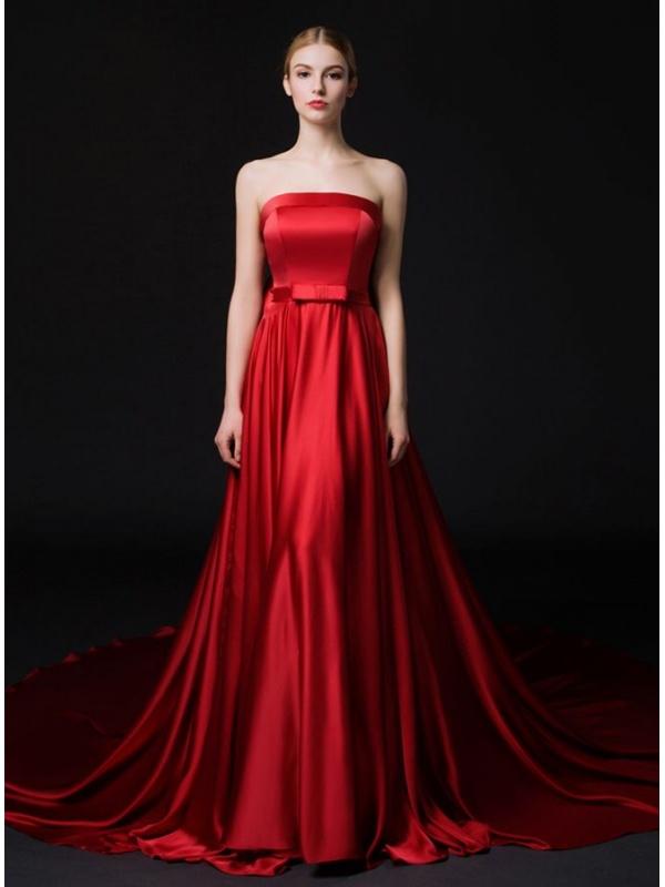 Ben noto Abito da Sposa Rosso con corpetto decorato in pizzo e punti luce e  KH02