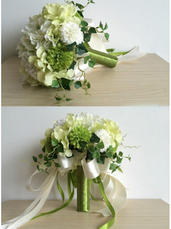 Preferenza Sposa verde e bianco finto online JJ76