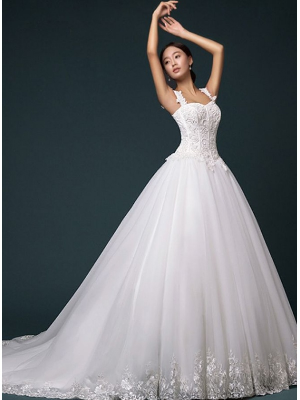 Vestiti da sposa con corpetto brillantinato